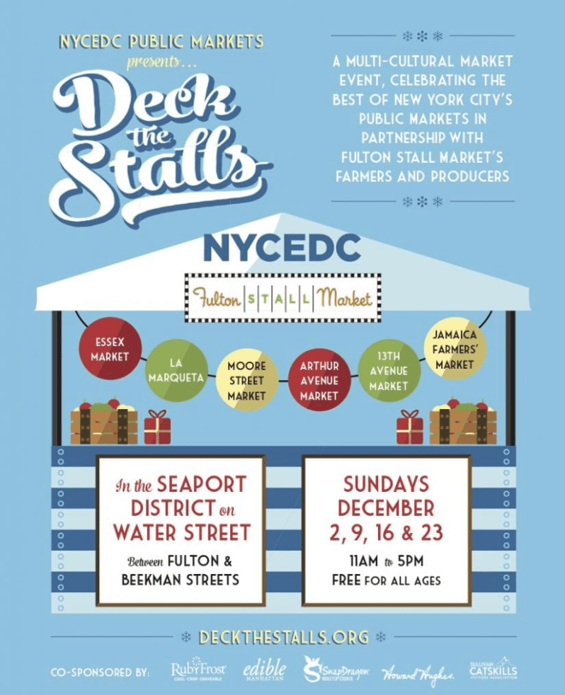 Deck the Stalls Holiday Market - New York City Ferry Service