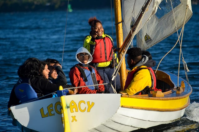 Rtb Students sailing in Legacy