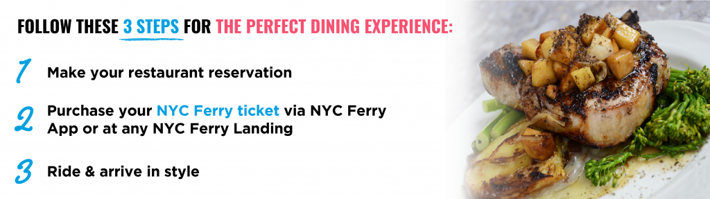 Get your perfect dining experience with NYC Ferry