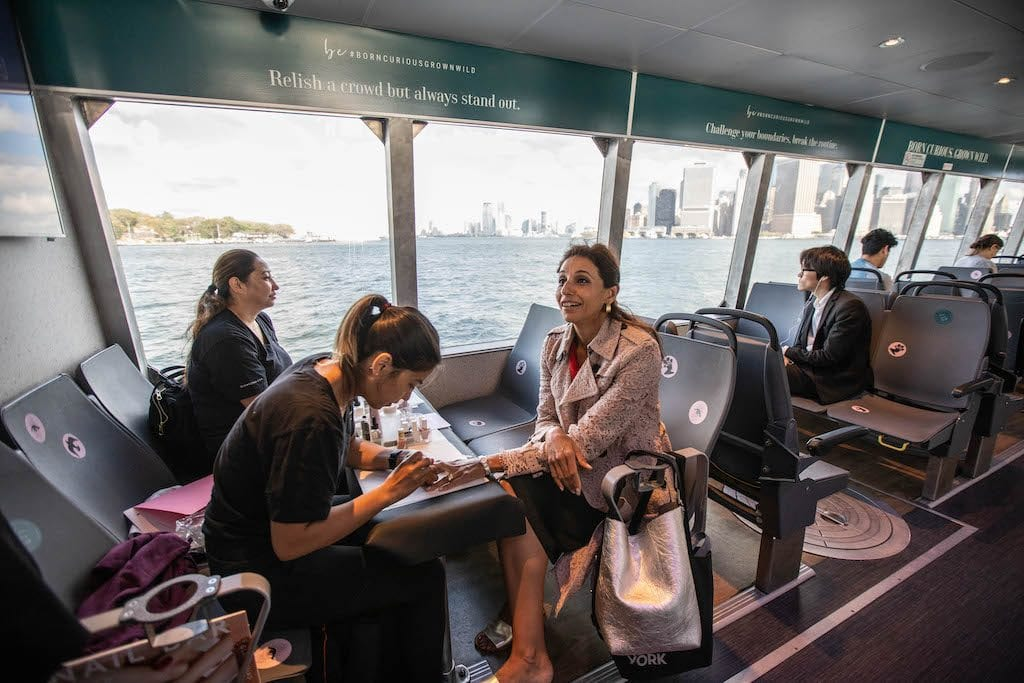 Onboard manicures with Crabtree & Evelyn